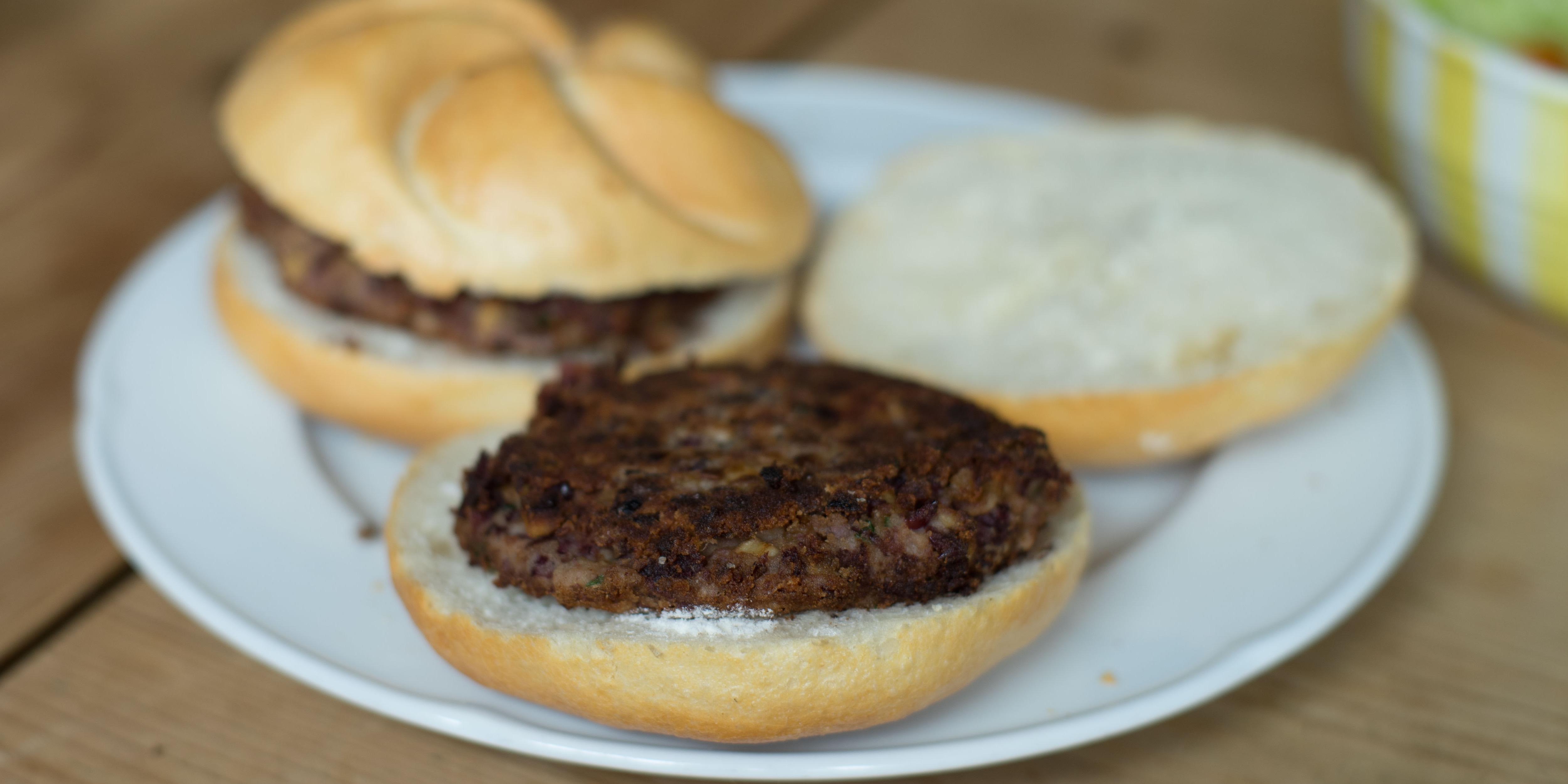Champignons-Bohnen-Burger
