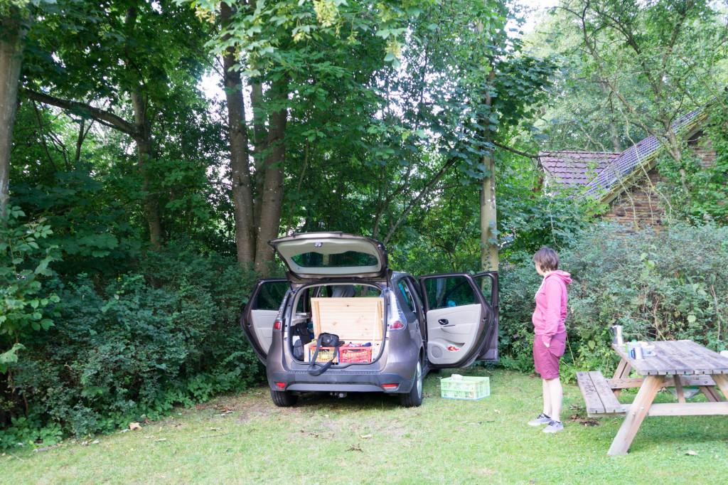 Gemütlicher Platz für unser Auto (pp)