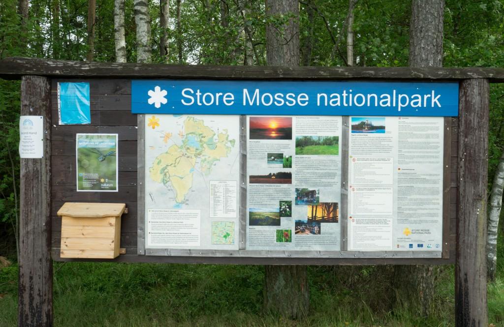 Infotafel im Store Mosse Nationalpark (vh/pp)