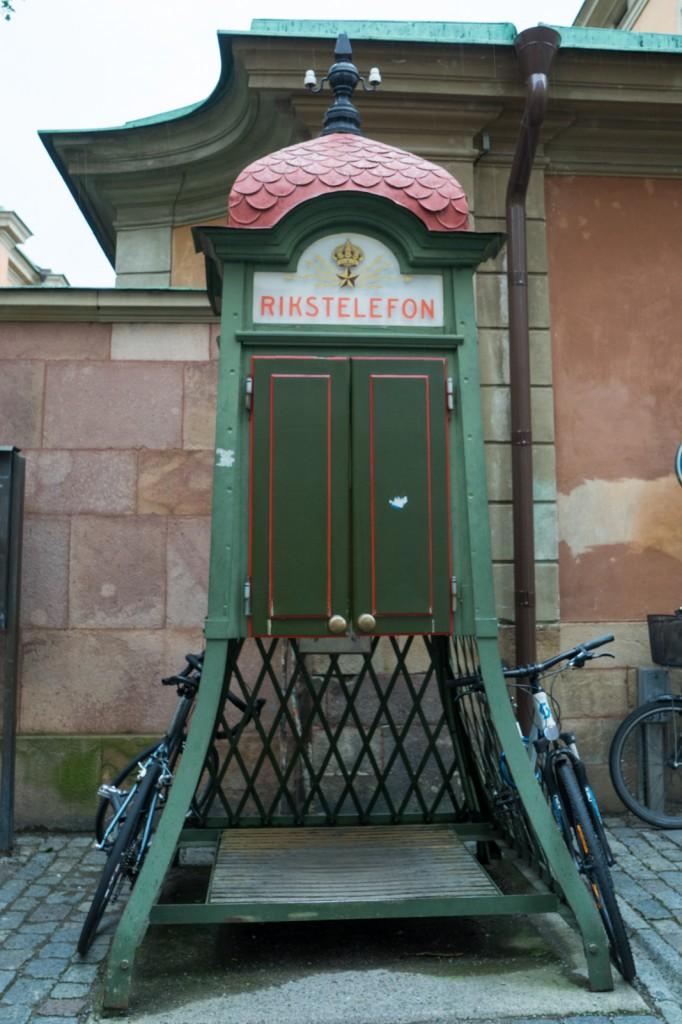 """Alte Telefonzelle """"Reichstelefon"""" (pp)"""