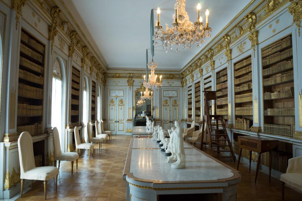 Bibliothek, eines der best erhaltenen Räume (pp)