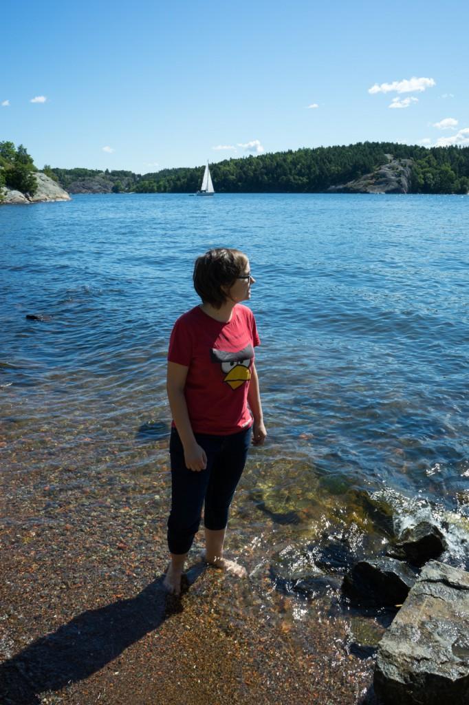 Mit den Zehenspitzen ins erfrischende Meer (pp)