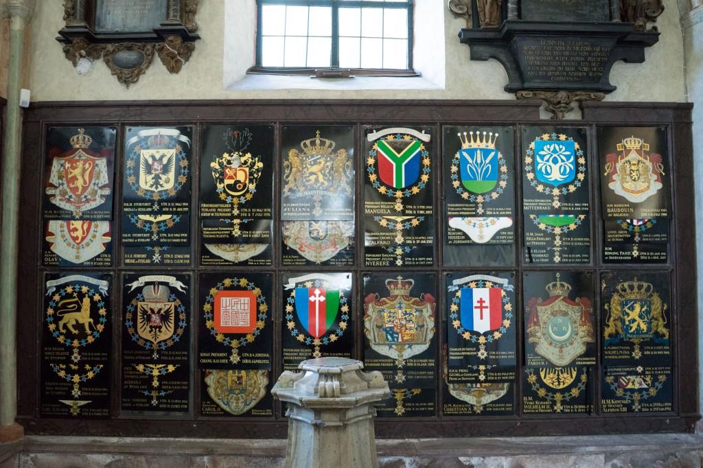 Schilder für Verstorbene in der Riddarholms-Kirche (pp)