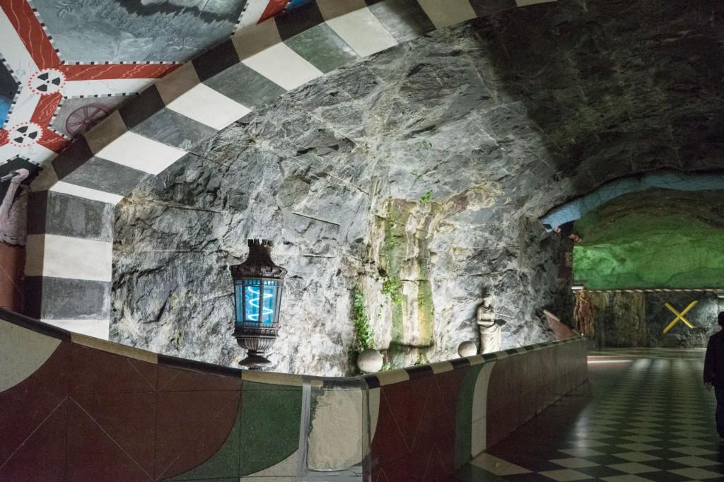 Eine der vielen künstlerischen U-Bahnstationen (vh/pp)
