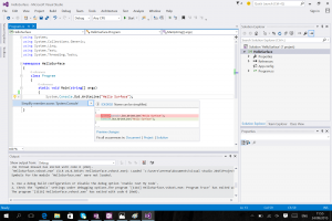 Visual Studio 2015.