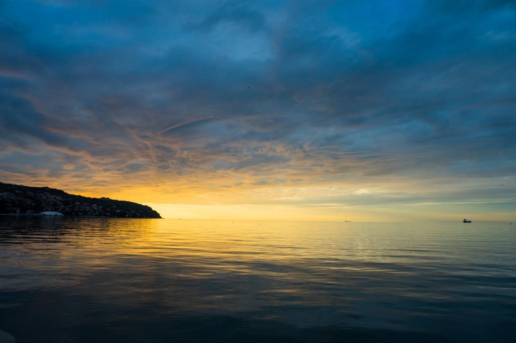 Sonnenuntergang in Koper (vh)