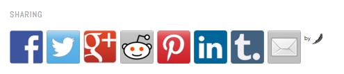 So hat's mit dem Plugin Social Media Feather ausgesehen.