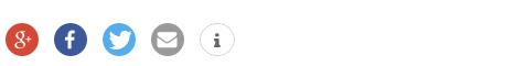 So sehen die Shariff Buttons mit meinen Einstellungen aus.