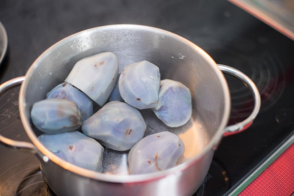 Blaue Kartoffel