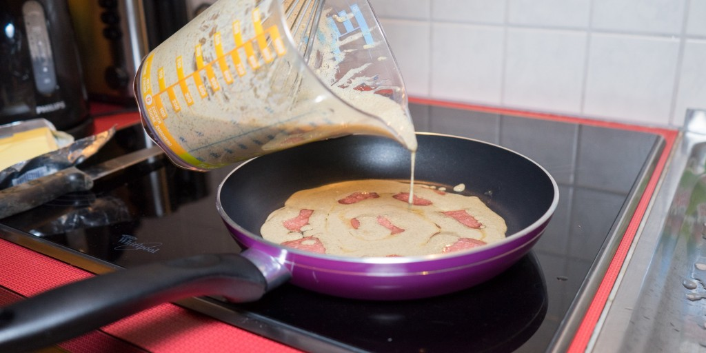 Kantwurst-Palatschinken (mit Hanfmehl)