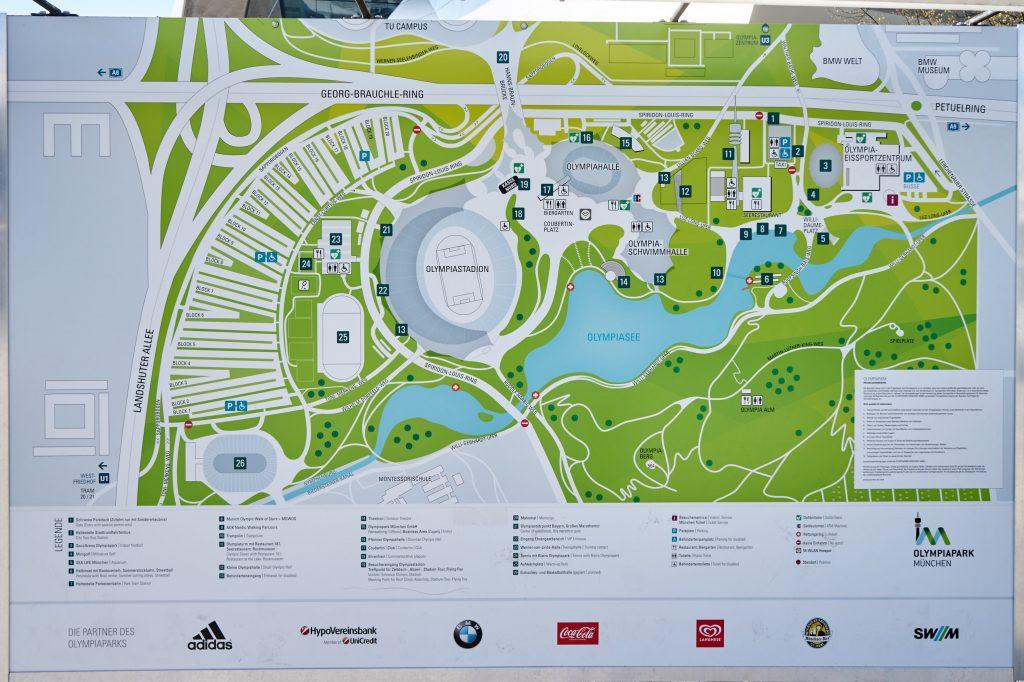 Übersicht über den Olympiapark.