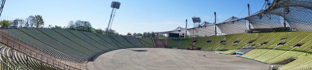 Panorama vom Olympiastadion.