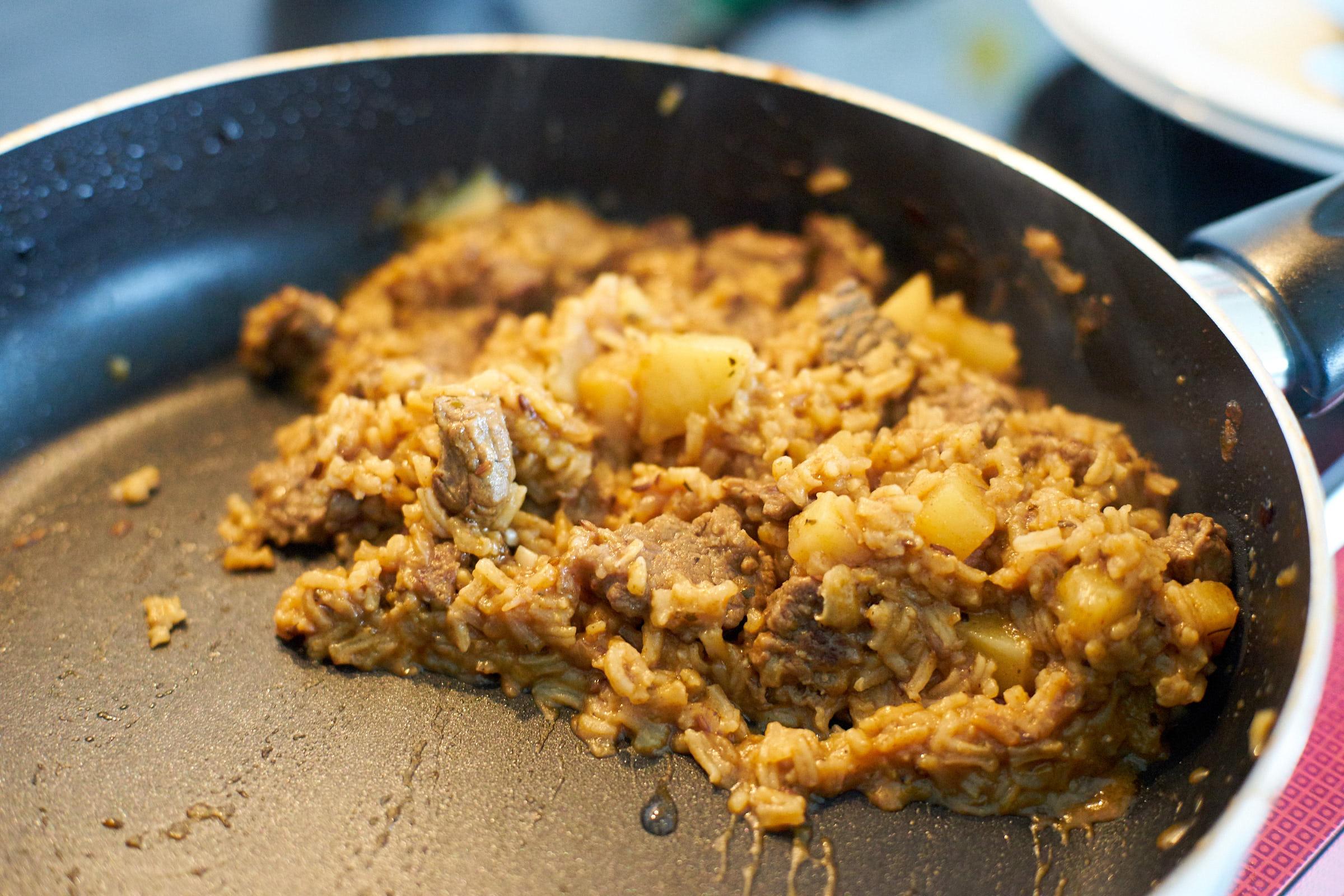 Reisfleisch mit Kartoffeln