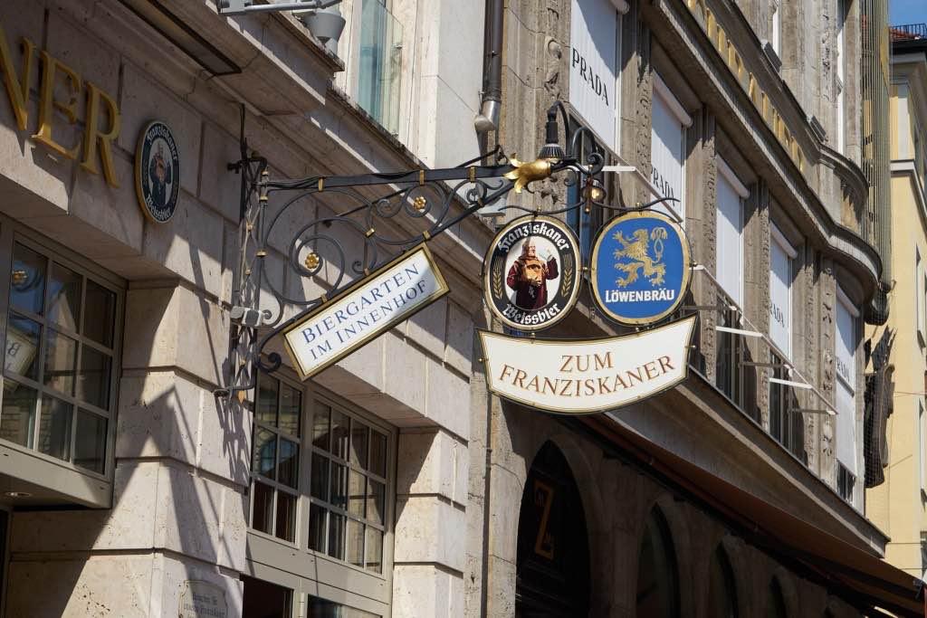 München Tag 1: Stadtspaziergang und Mittagessen im Franziskanerbräu