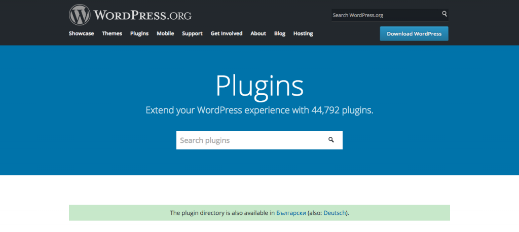 The new plugin search interface.