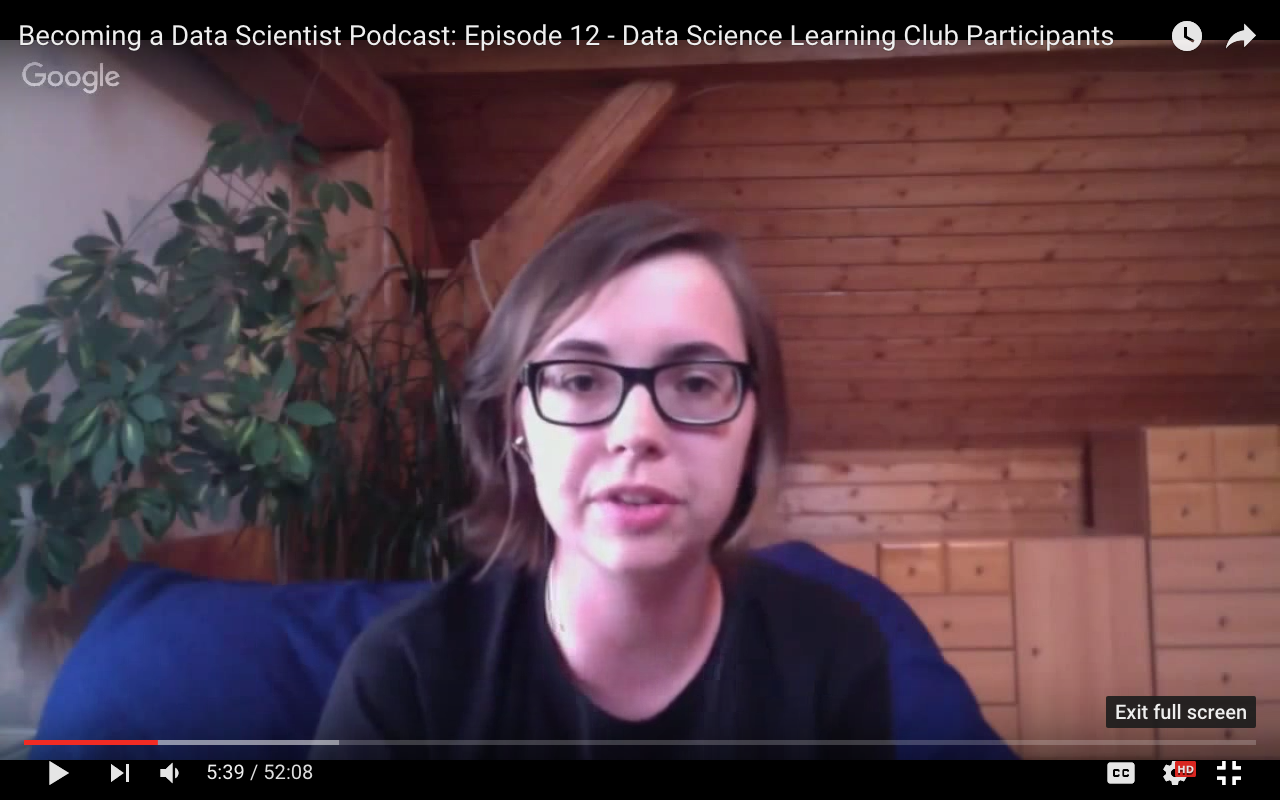 I was guest at the Becoming a Data Scientist Podcast!