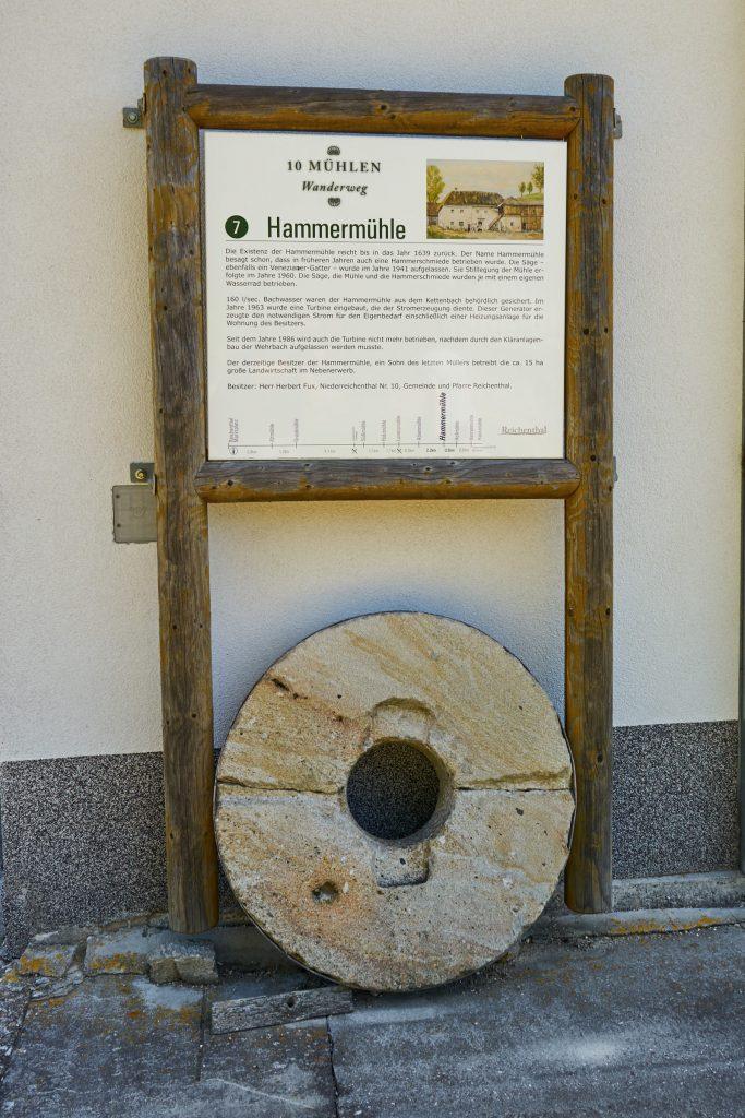 Beschilderung des 10-Mühlenwanderweg - Hammermühle