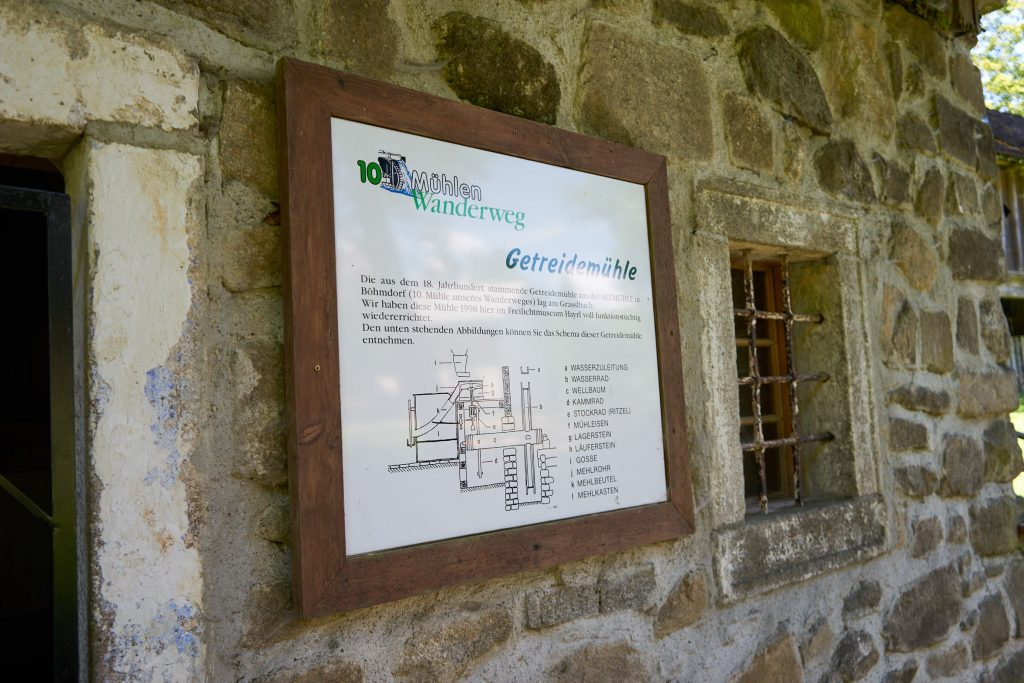 Beschilderung des 10-Mühlenwanderweg - Getreidemühle