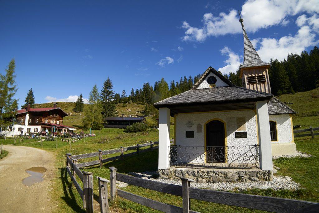 Kapelle bei der Kaindlhütte.