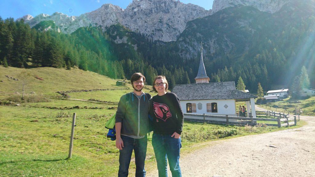 Patrick und ich in der Nähe der Kaindlhütte.