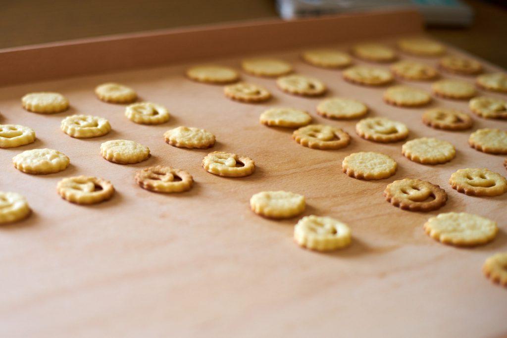 Die fertig gebackenen Kekse.