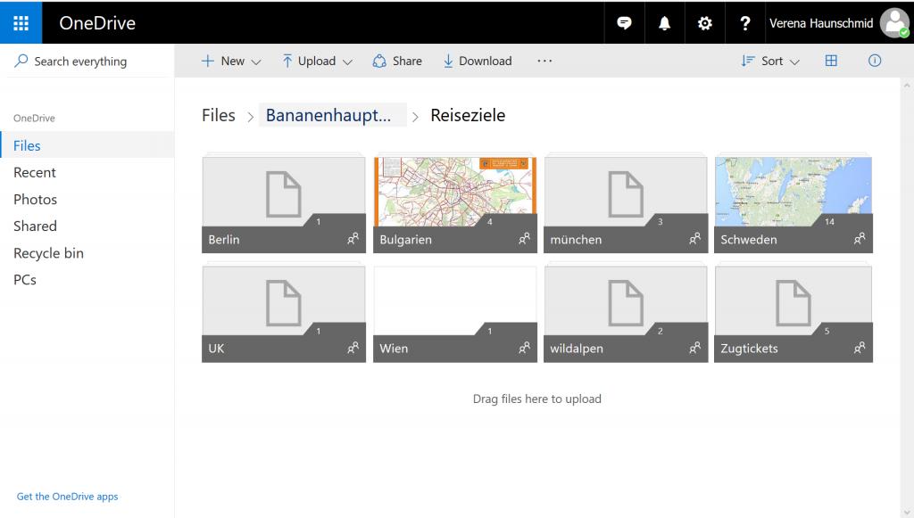 Screenshot von unserem gemeinsamen Urlaubs-OneDrive Ordner.