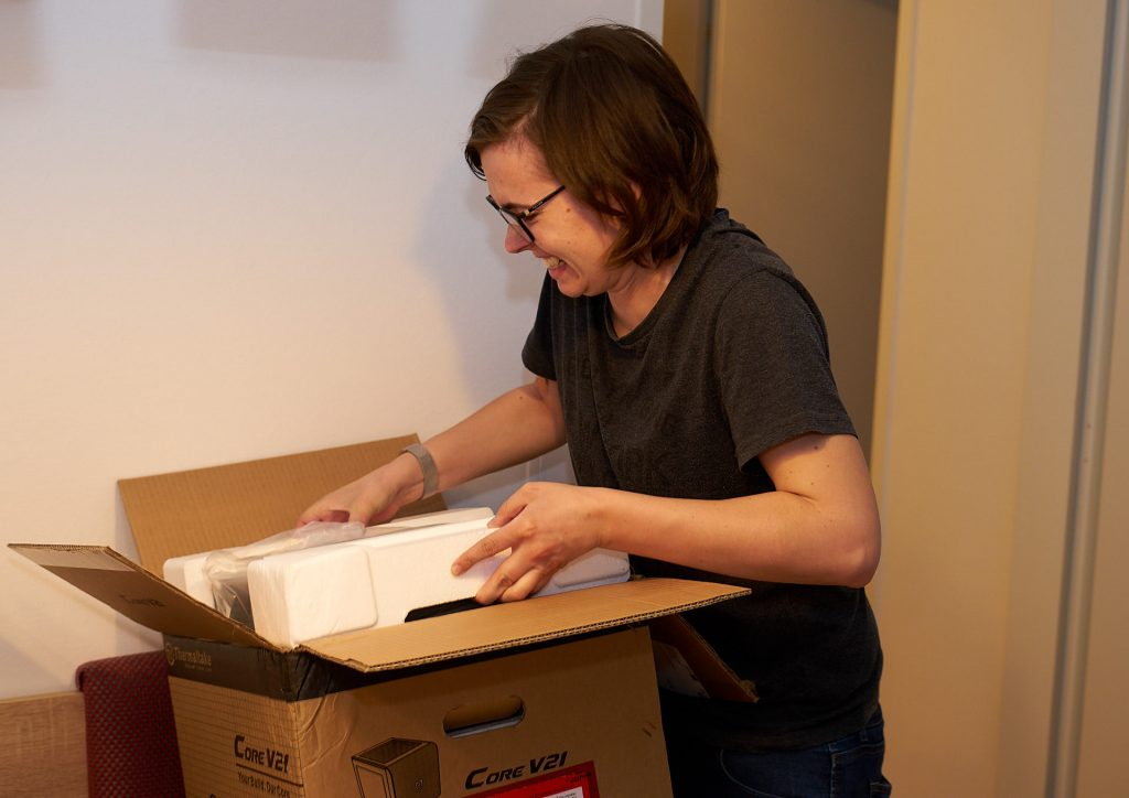 Me unpacking my new Thermaltake case