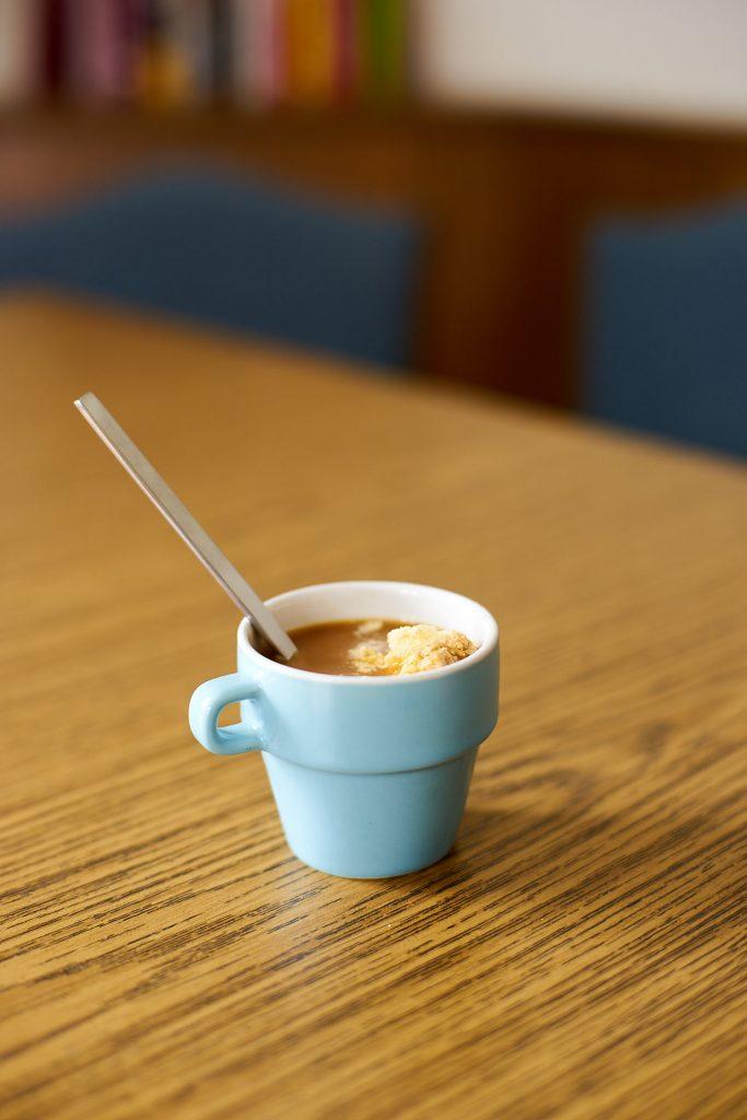 Kaffee mit Vanilleeis