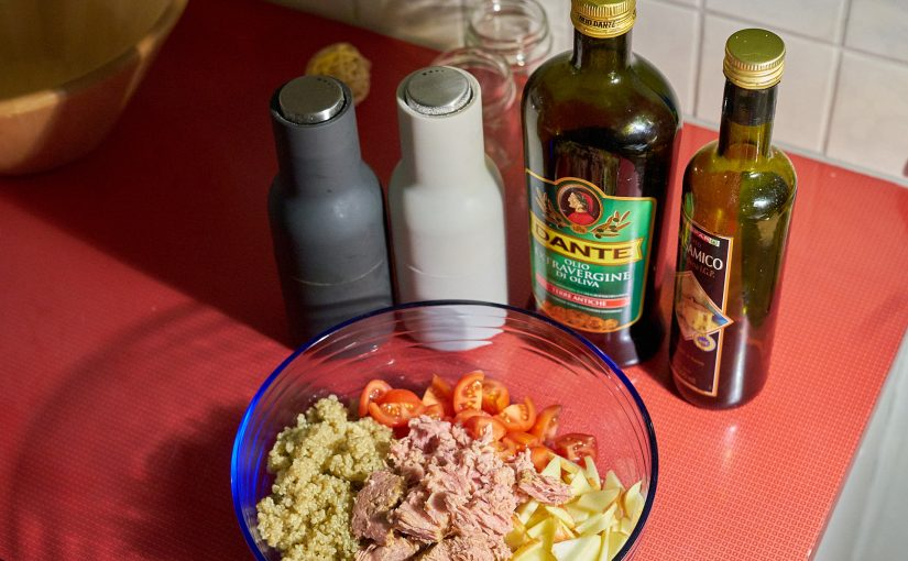 Quinoa Thunfisch Salat fürs Büro