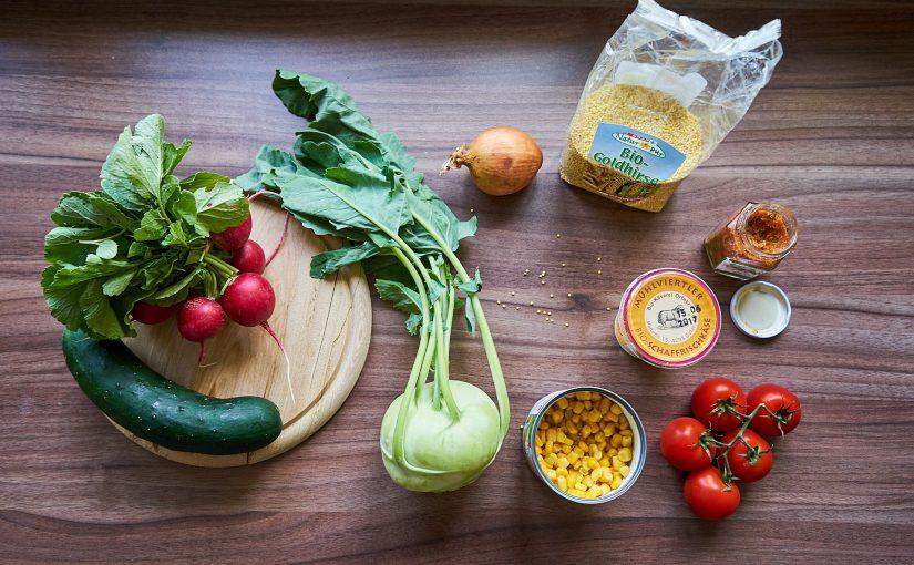 Gemüse Hirse Salat