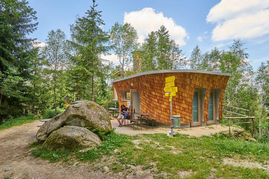 Die Hütte am Buchberg.