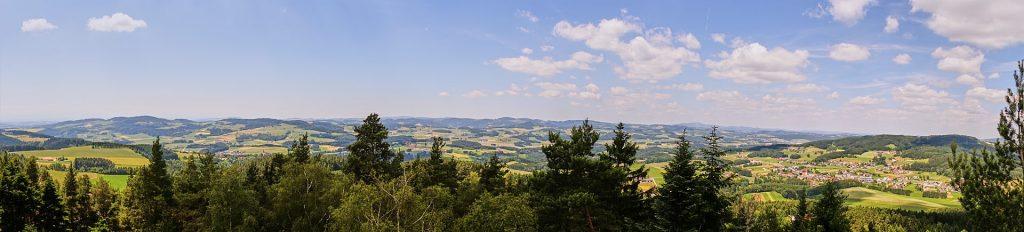 Panoramablick vom Buchberg.