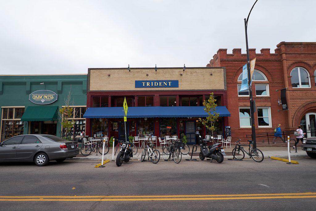 Das Trident Booksellers and Cafe in Boulder von außen