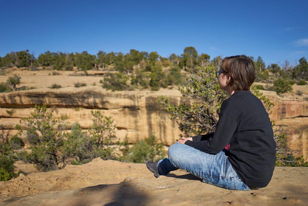 Ich im Mesa Verde Nationalpark