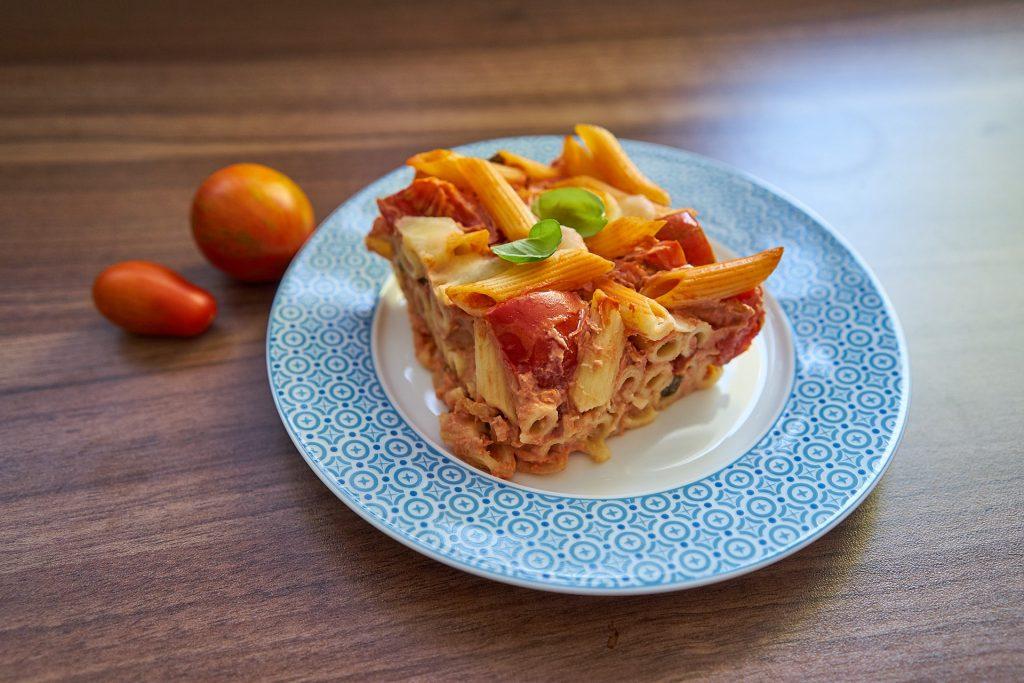 Mozzarella Tomaten Auflauf.