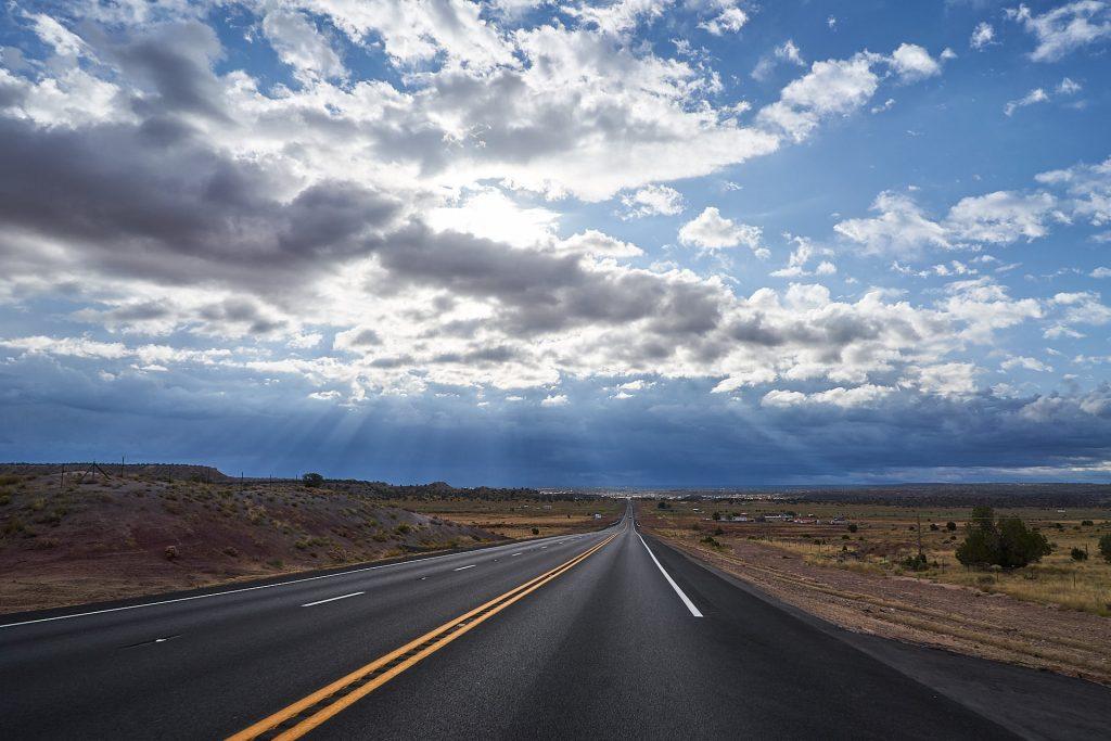 Die Straße am Weg zum Petrified Forest
