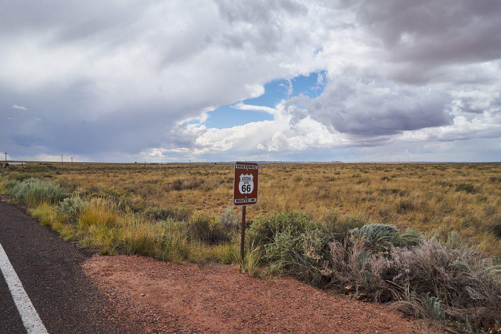 Ein Schild der historischen Route 66.