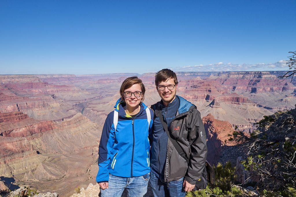Wir zwei im Grand Canyon