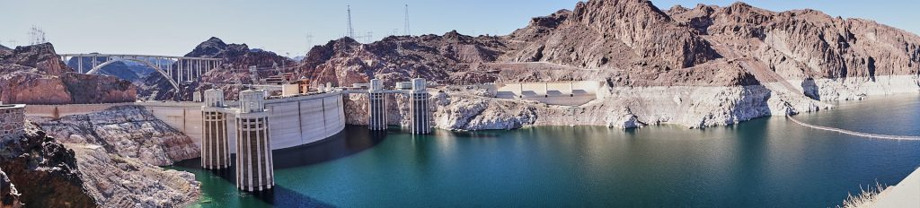 Panorama vom Hoover Dam.