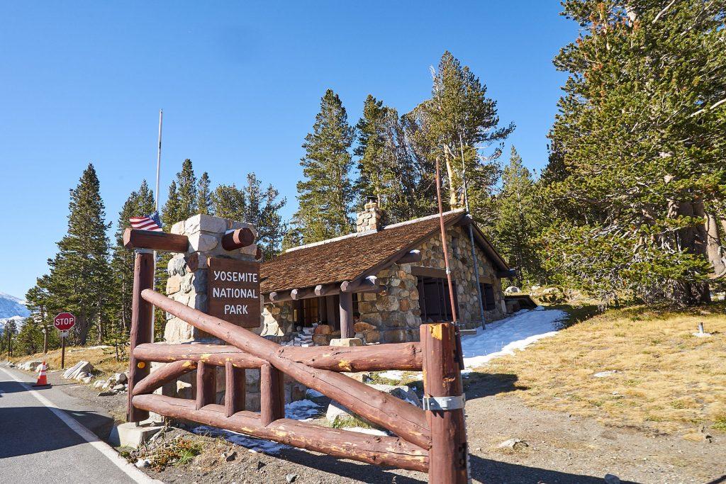 Das Schild zum Yosemite Nationalpark.