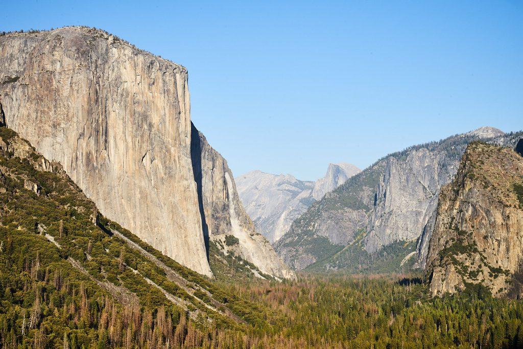 Die Barrel View - von hier sieht man den El Capitan und den Half Dome. | Yosemite Reisebericht